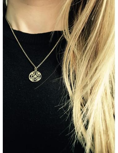 Naszyjnik Rozetka w kolorze złotym
