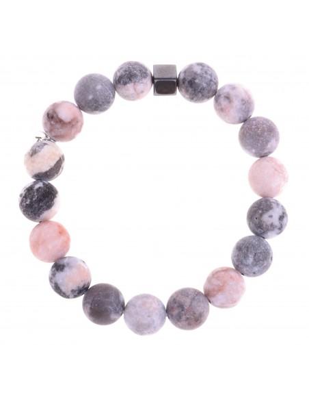 "Bransoletka ""Pink/grey Marble"""