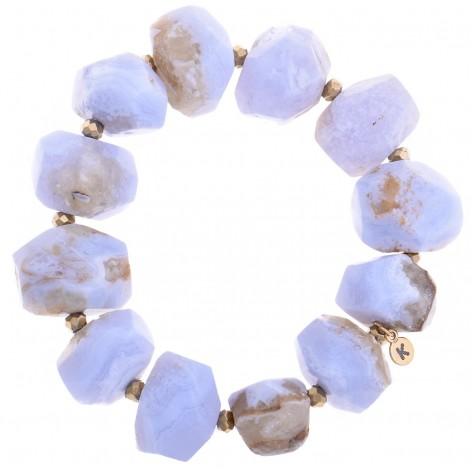 Surowy Chalcedon - bransoletka z kamieni naturalnych