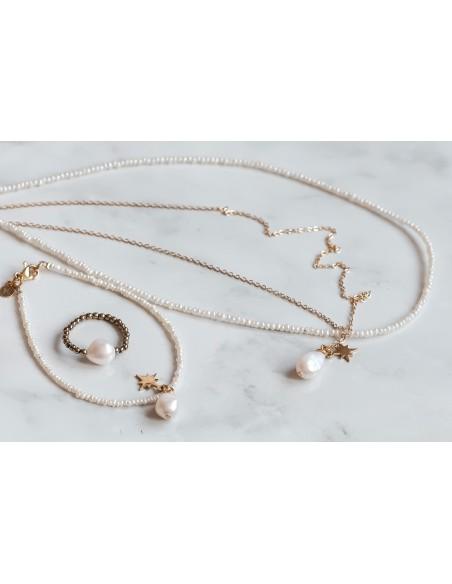 Podwójny naszyjnik z perłami