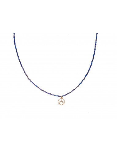 Lazurite (2mm) - necklace made of natural stones