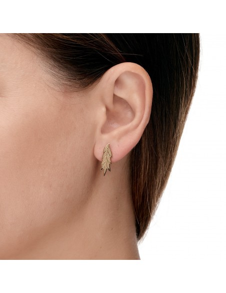 Paradise leaf - stud earrings made of gilded stainless steel