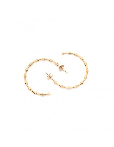 Semicircles - earrings made of gilded stainless steel