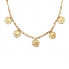 "Gold-plated necklace ""Coins"""