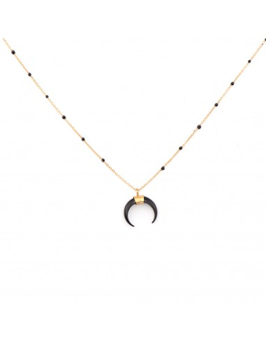 """Gold-plated necklace """"black Moon"""""""