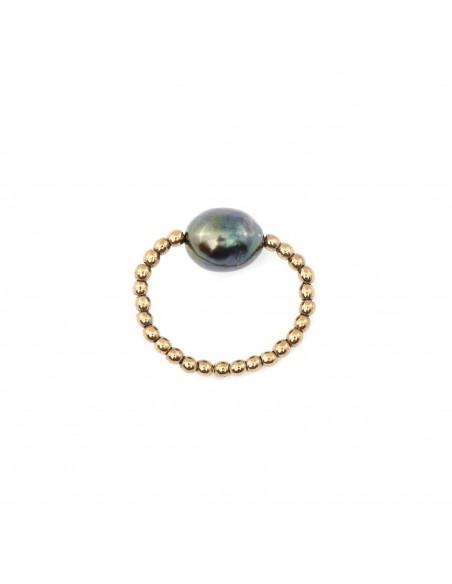 Pierścionek z czarną perłą