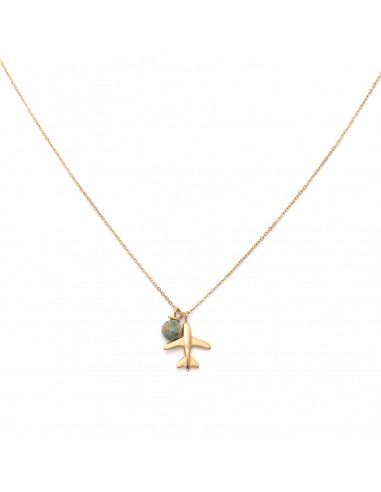 """Gold-plated necklace """"Airplane"""""""