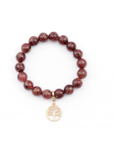 Red wine with gold - a bracelet of...