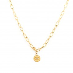 Gold-plated chain with a...