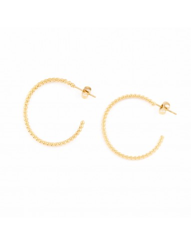 Semicircle with beads - earrings made...
