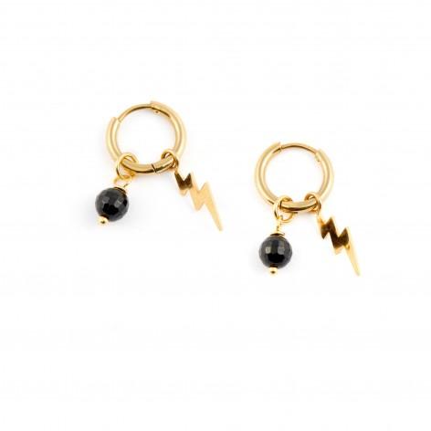 Lightning - hoop earrings...