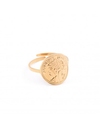 """Gold-plated ring """"Coin"""""""
