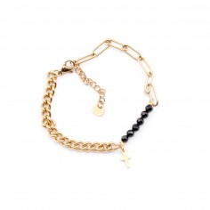 Chain bracelet  with a cross