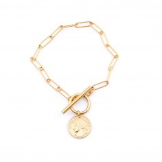Chain bracelet with toggle...