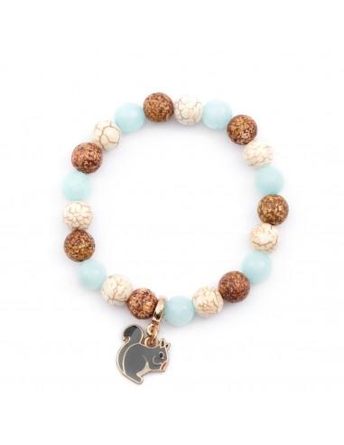 Wiewiórka - bransoletka z kamieni naturalnych dla dziewczynek Kulka Kids