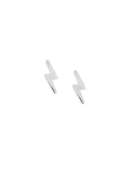 Błyskawice - kolczyki sztyfty ze stali szlachetnej (wersja srebrna)