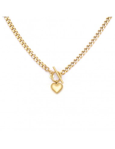 Chain necklace with an engravable heart