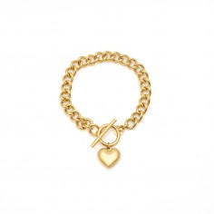 Chain bracelet with a heart...