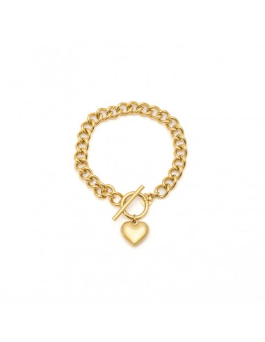 Chain bracelet with a heart that can...