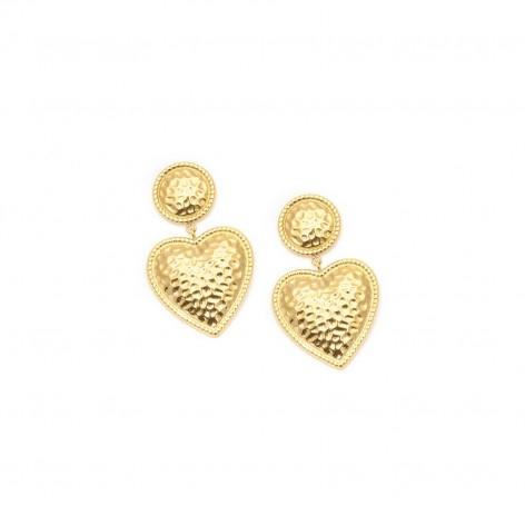 Embossed hearts - earrings...