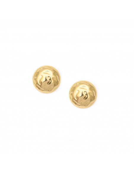 Earrings of the 90s a la clips - stud earrings made of gold-plated stainless steel