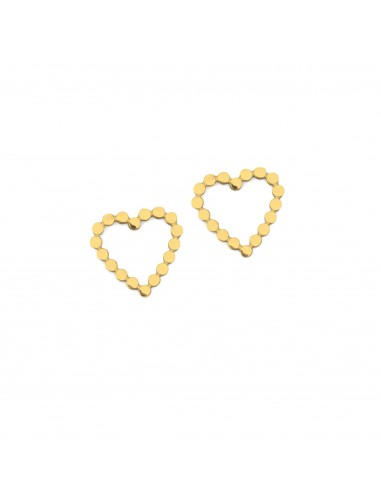Hearts made of delicate beads - stud...
