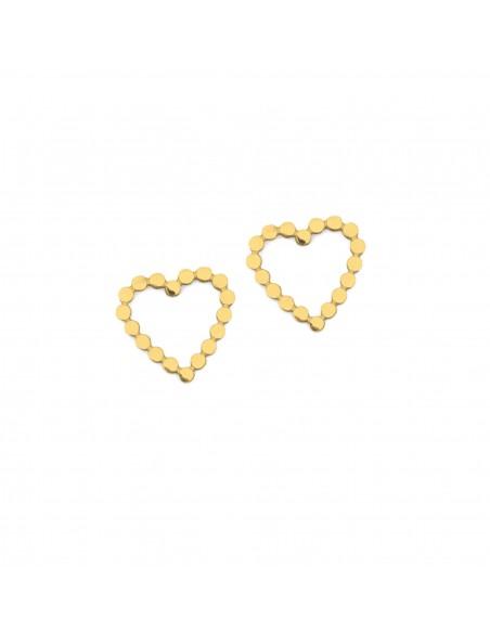 Serca z kuleczek- kolczyki sztyfty ze stali szlachetnej