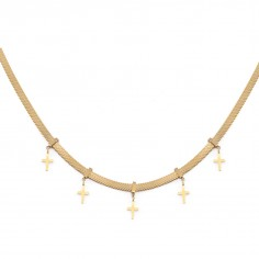 Gold-plated necklace with...