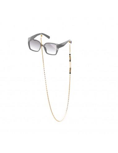 Łańcuszek do okularów - Perła i Onyks
