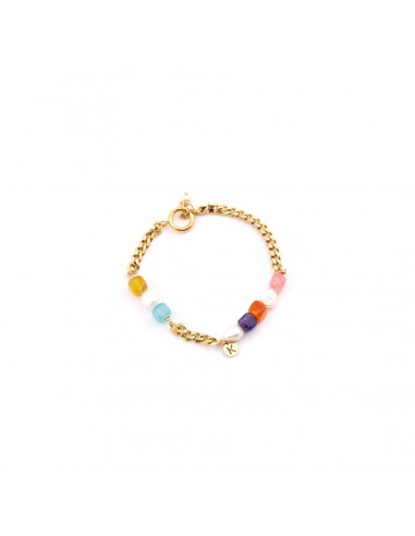Bransoletka na nogę - Perły i barwione muszle