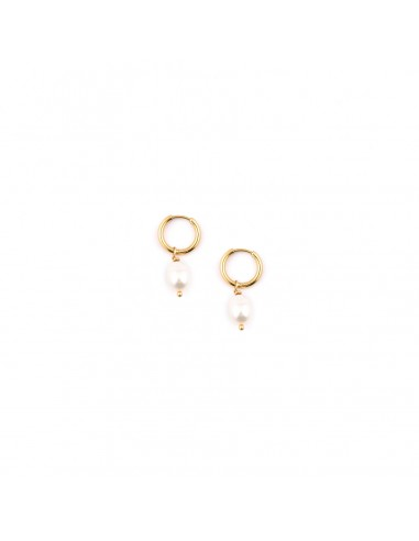 Circle earrings with pearls