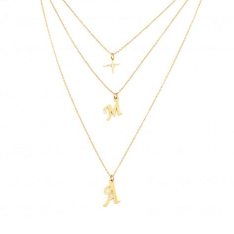"Triple ""Love"" necklace -..."