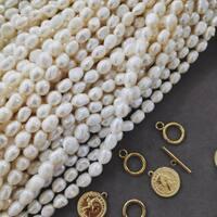 Właśnie dotarła do nas duża dostawa pereł 🤩 Gabrysia nasza perełka w pracowni właśnie zaczyna robić dla Was zamówione naszyjniki ⭐️